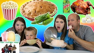 Cotton Candy vs Real Food Switch Up / That YouTub3 Family