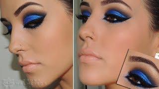 """getlinkyoutube.com-Maquiagem Azul """"Bapho"""" para festas"""