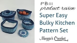 getlinkyoutube.com-Super Easy Bulky Kitchen Set Crochet Pattern Product Review PB111