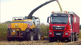 getlinkyoutube.com-Maïs hakselen 2014 | New Holland FR700 | T7.270 Black Power | MAN TGS 8x8 Agrar truck | Jan Bevers