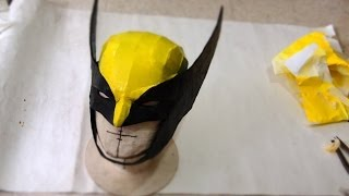 getlinkyoutube.com-#55: Wolverine Cowl DIY Part 2 - Paper-Mache & Paint (template available) | How To | Dali DIY