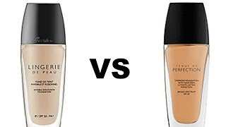getlinkyoutube.com-Comparison | Guerlain Lingerie De Peau vs Guerlain Tenue De Perfection