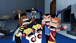 getlinkyoutube.com-Teen Titans - Cyborg meets Titans East