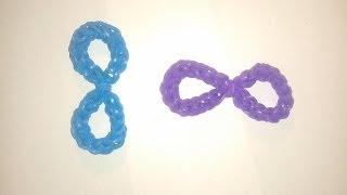 getlinkyoutube.com-♥ Tutorial: número 8 (e infinito)  hecho con gomitas (sin telar) ♥