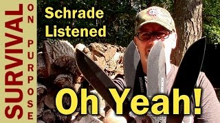 getlinkyoutube.com-Brand new Schrade Bushcraft and Survival Knives -SCHF51, SCHF51M, SCHF52, SCHF52M