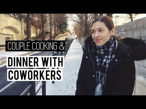 'Couple Cooking' | Company Dinner & SNOW in Seoul (자막) 국제커플 세라의 맛있는 미역떡국 & 회식