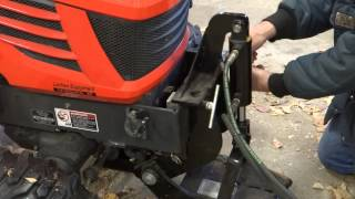 getlinkyoutube.com-Kubota BX-24 Removing Loader, and Installing Snowblower