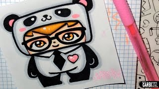 getlinkyoutube.com-Panda Boy - How To Draw Chibi and Kawaii Characters by Garbi KW