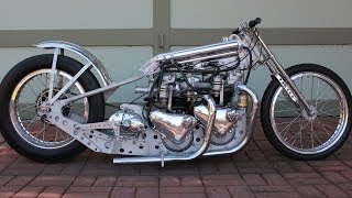 getlinkyoutube.com-Twin Engine Motorcycle Dragster Stage Fright Triumph Bonneville Tiger T110 T120