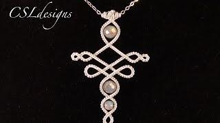 getlinkyoutube.com-Elvish inspired wire wrapped pendant