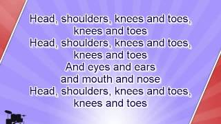 getlinkyoutube.com-Karaoke for kids - Head, shoulders, knees and toes - slow - key +3