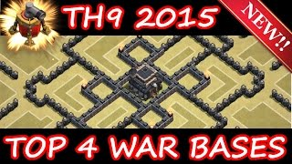 getlinkyoutube.com-Clash Of Clans | TOP 4 INSANE TH9 BASE BUILDS OF 2015! | NEW WIND SWEEPER UPDATE