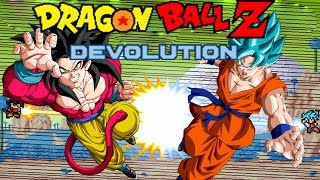 getlinkyoutube.com-Dragon Ball Z Devolution: Super Saiyan God Super Saiyan Goku vs. Super Saiyan 4 Goku!