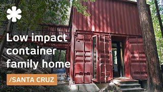 getlinkyoutube.com-Shipping container family home: building blocks in Redwoods