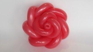 getlinkyoutube.com-Роза из шаров 7 лепестков / Rose of balloons, 7 petals (Subtitles)
