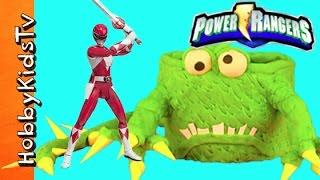 Power Rangers Play-Doh Monster Cake! Surprise Toy Fun Story Review HobbyKidsTV