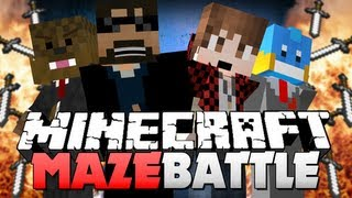 getlinkyoutube.com-Minecraft MAZE BATTLE!! TASTE MY BLADE OF KILLING!! (Bajan, Husky and Jerome)