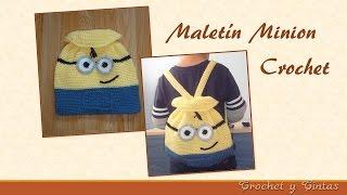 getlinkyoutube.com-Mochila - Maletín Minion tejido a Crochet