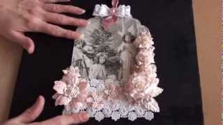 getlinkyoutube.com-Wild Orchid Crafts - Shabby chic Christmas tag.