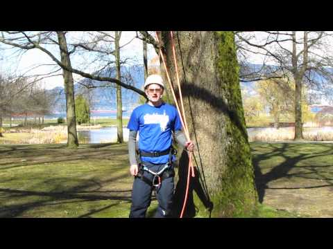 How to tie a Sheet bend &amp; Weavers knot | Arborist knot tying