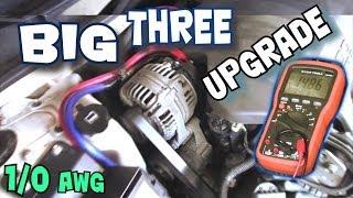getlinkyoutube.com-How To Install BIG THREE Upgrade | EXO's BIG 3 Car Audio Wiring Tutorial to Increase Power Flow