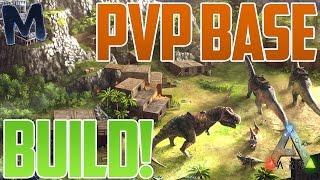 getlinkyoutube.com-Ark BEST PVP STARTER BASE BUILD!!! (Ark PvP Tips)