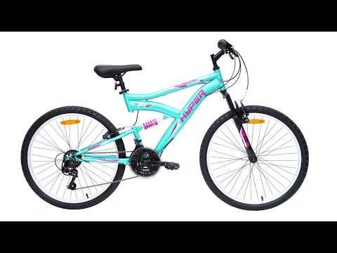 "Hyper Bikes 60cm (24"") 18 Speed Dual Suspension Mountain Bike"