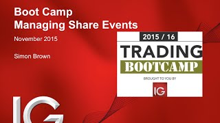 Trading Boot Camp with IG (session #5 - managing share events)