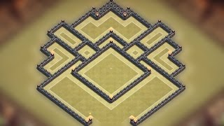 getlinkyoutube.com-Clash of clans - Town hall 8 (TH8) Clan war base 2015 [Funnelled base] Speed build