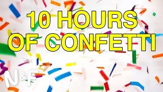 10 Hours Of Confetti Falling (Compress That, YouTube!)