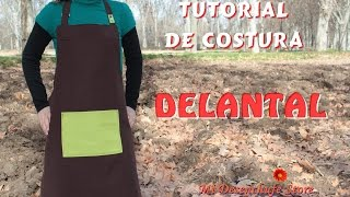 getlinkyoutube.com-Tutorial #46 - Como hacer un Delantal -  How to make an apron