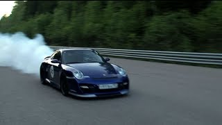 getlinkyoutube.com-Porsche 911 Turbo (1500 HP) — accident