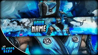 FREE GAMING BANNER TEMPLATE | BANNER EDITABLE .psd (Download Link) | ESPECIAL 2K