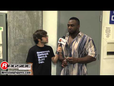 BIG E SDCC 2014 Mattel WWE Figure Interview wrestling figures