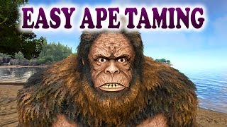ARK | EASY GIGANTOPITHECUS TAMING | How To Tame a Gigantopithecus in ARK Survival Evolved