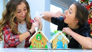 Gingerbread House Challenge   12 Days of Vlogmas {Day 7}   Brooklyn and Bailey