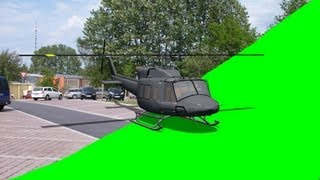 getlinkyoutube.com-Helicopter take off green screen with template - green screen
