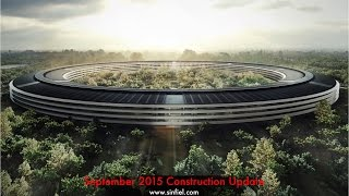 Apple Campus 2 Construction Sept 2015 Update feat. Steve Jobs