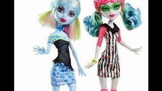 monster high skultimate roller maze ghoulia yelps & abby bominable обзор на русском
