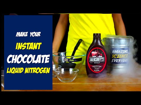 Make your Instant Frozen Chocolate Ants with Liquid Nitrogen : Cool Science Experiment