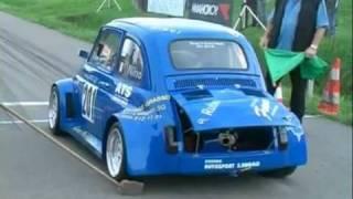 getlinkyoutube.com-Fiat 500 Prototipo Honda CBR R5 Maxi - Chronoscalata Bergrennen Hillclimb Course de Cote