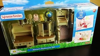 sylvanian families sister's bedroom set