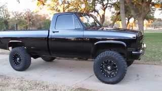 getlinkyoutube.com-1986 Chevrolet 3/4 ton 4x4, new, interior, new paint, solid Texas truck, cold a/c