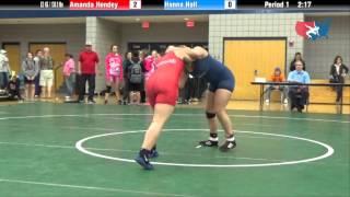 getlinkyoutube.com-63 KG R3 - Amanda Hendey (King) vs. Hanna Hall (Campbellsville)