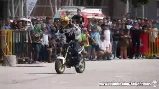 getlinkyoutube.com-Stunt Riding - SPEEDZONE - Yamaha MT-03 and Honda MSX125 Grom