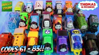 getlinkyoutube.com-Thomas Mini Trains blind bags with codes 61-83 - Thomas & Friends toys videos for children
