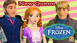 getlinkyoutube.com-Disney Frozen Prince Hans, Princess Anna, Kristoff Dolls Series Part 42   Cookieswirlc Video