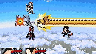 getlinkyoutube.com-Dragon Ball Z rpg fight - SSJ4 Goku & Vegeta vs Main Saga villians