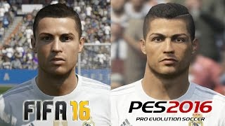 getlinkyoutube.com-FIFA 16 vs PES 2016 REAL MADRID Face Comparison