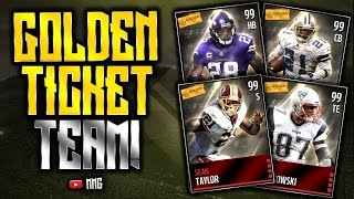 getlinkyoutube.com-ALL GOLDEN TICKET TEAM! Madden Mobile Squad Builder